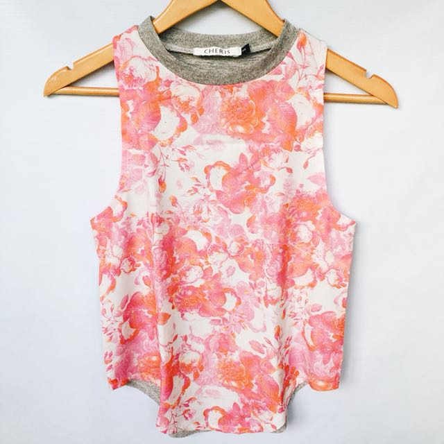 Pink Floral Top (Fits S-M)
