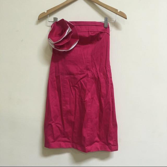 Pink Flower Tube Dress