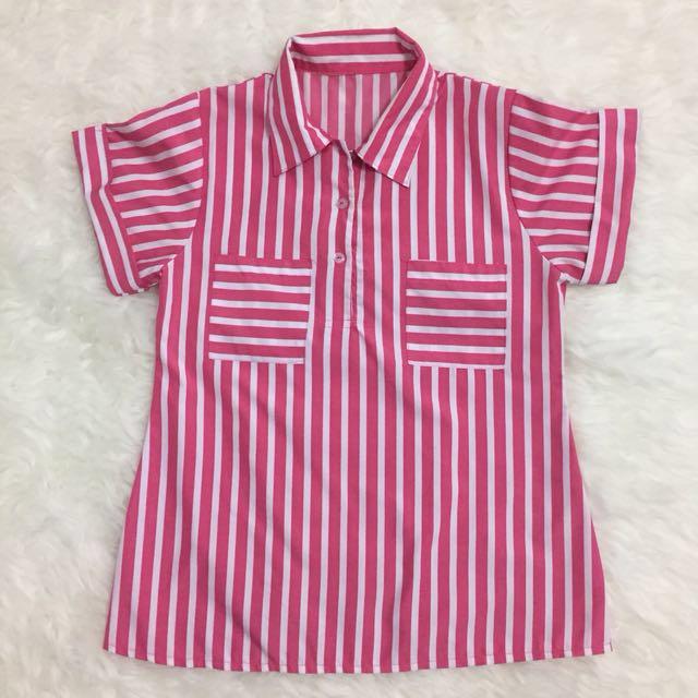 Pink Strip Top