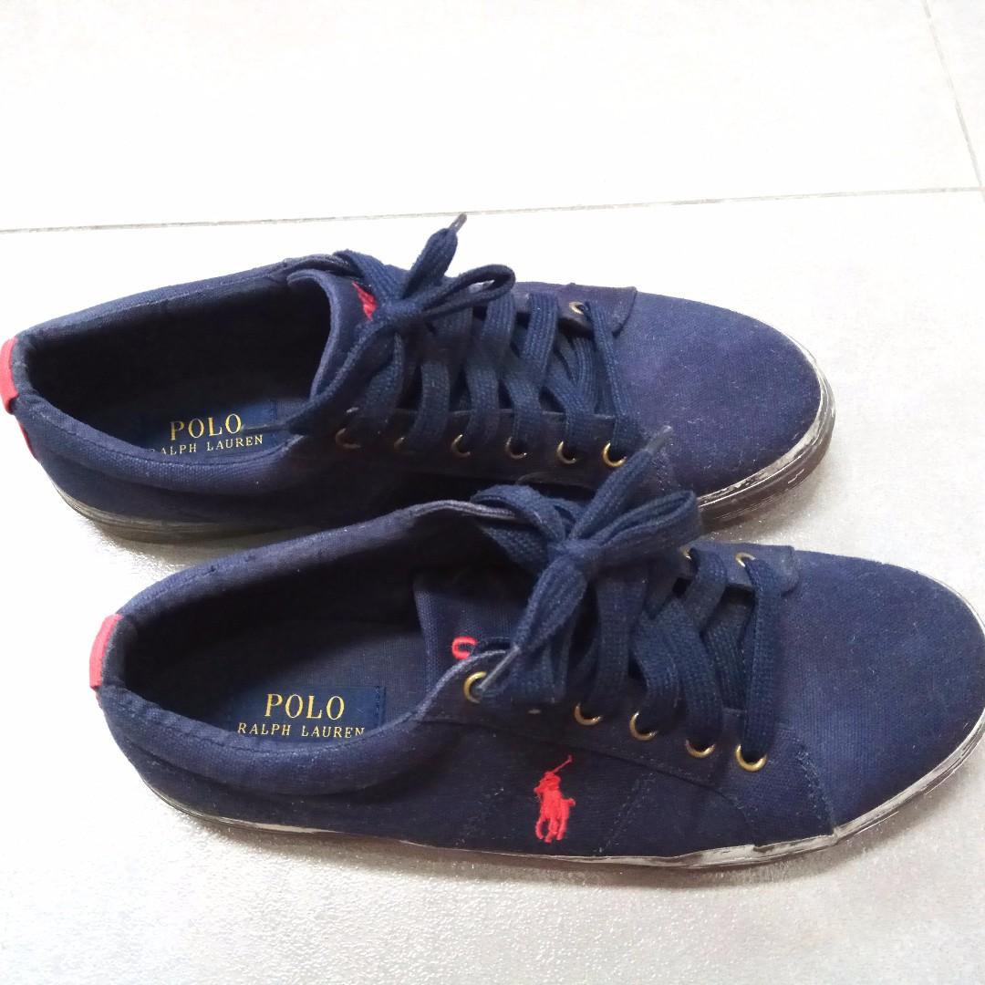 (PL) Original Ralph Lauren Men's Felixstow Canvas Sneakers (Size: 9D US)
