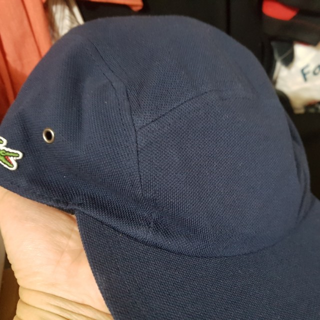 Reduced! Brand New Supreme x Lacoste 5 Panel Blue Camp Cap 025dfeb60f2