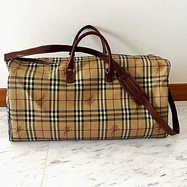Reduced Price Authentic Burberry Duffle Travel Bag Luxury Bags Wallets On Carou