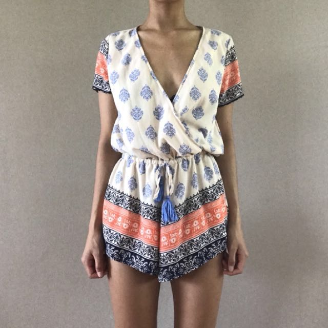 'Reverse' playsuit from Peppermayo