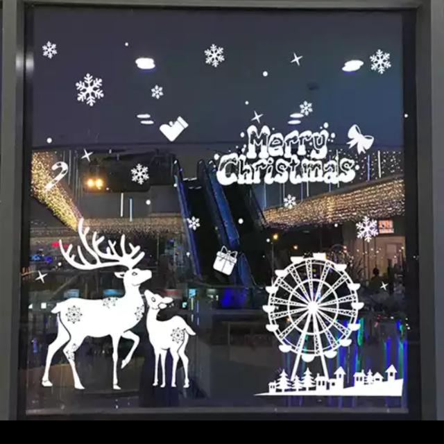 Romance Window Stickers Snowflake Wall Stickers Christmas ...