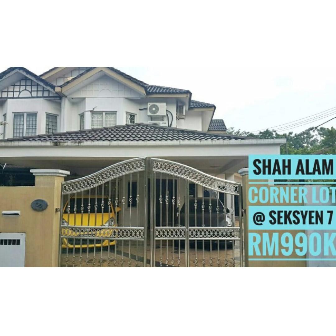 Rumah Seksyen 7 Shah Alam Untuk Dijual Sipeti Co Id