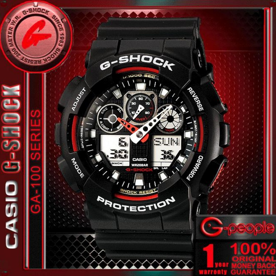27902120f39e SALE!!! CASIO G-SHOCK GA-100-1A4 ANALOG DIGITAL WATCH ☑ORIGINAL ...