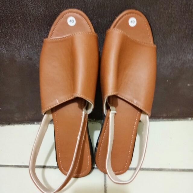 Sandal Cewek Tutup Depan #awaltahun