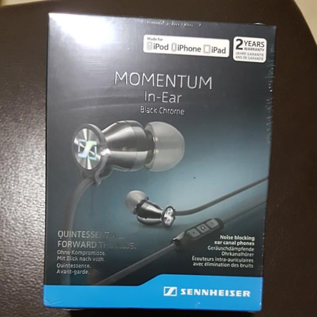 Sennheiser Momentum In-Ear Black Chrome