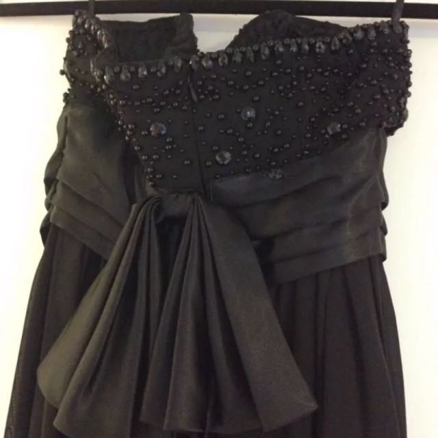 Sherri Hill inspired boob tube beaded maxi dress