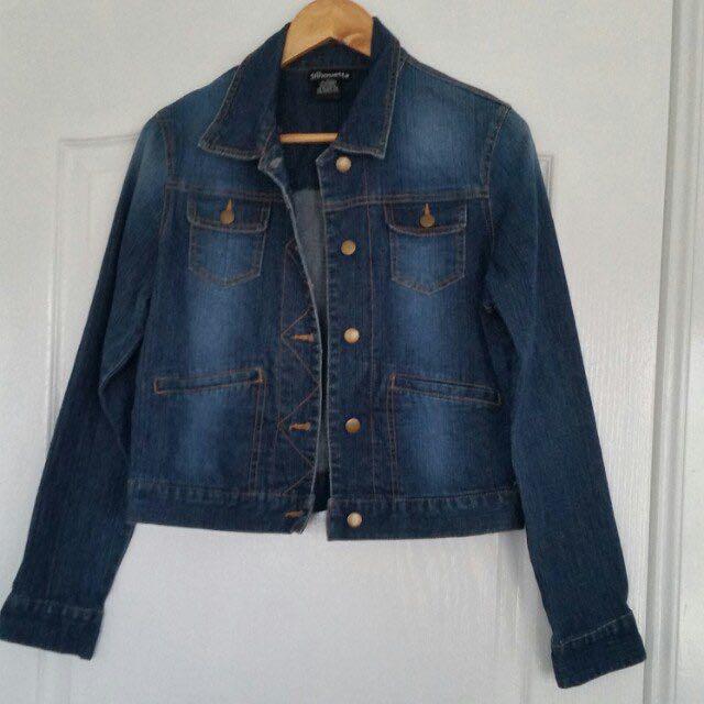 Silhouette Blue Denim Jean Jacket Medium Perfect Condition
