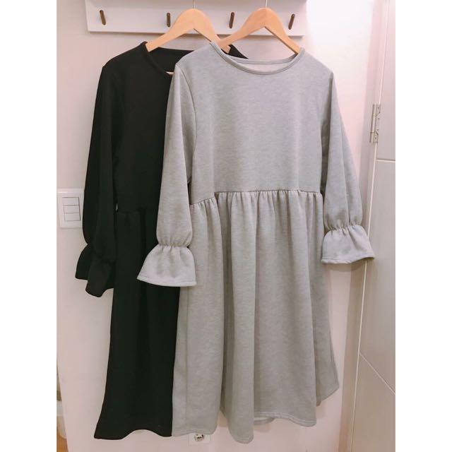 特惠出清【SiStyle】棉質荷葉洋裝-黑