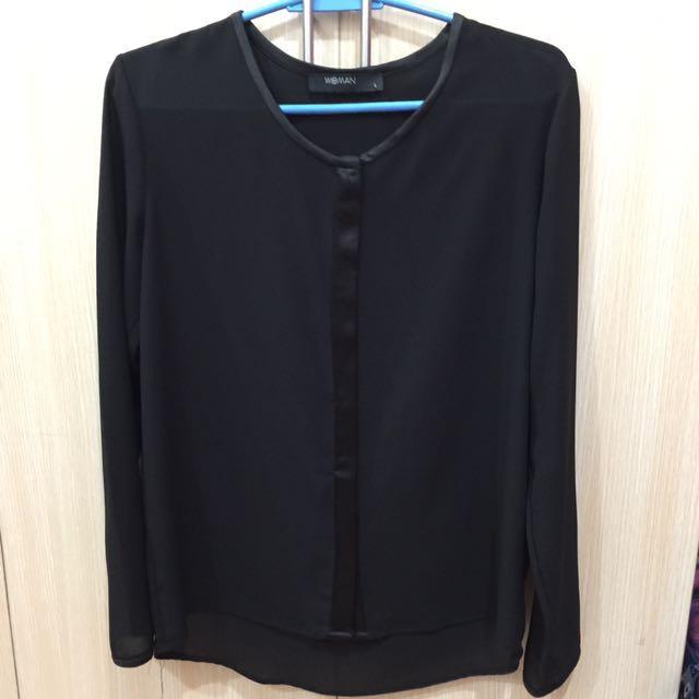 SM WOMAN black long sleeves