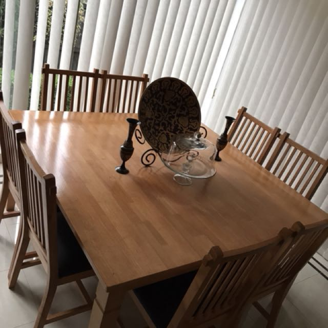 Solid Timber x Leather Dinner Table & Chairs