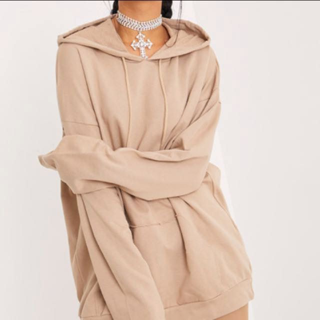 Steph Taupe Oversized Hoodie - Pretty Little Thing