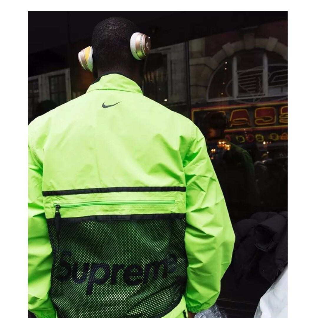 Supreme X Nike Trail Running Jacket 螢光綠S 超強聯名 小賈著