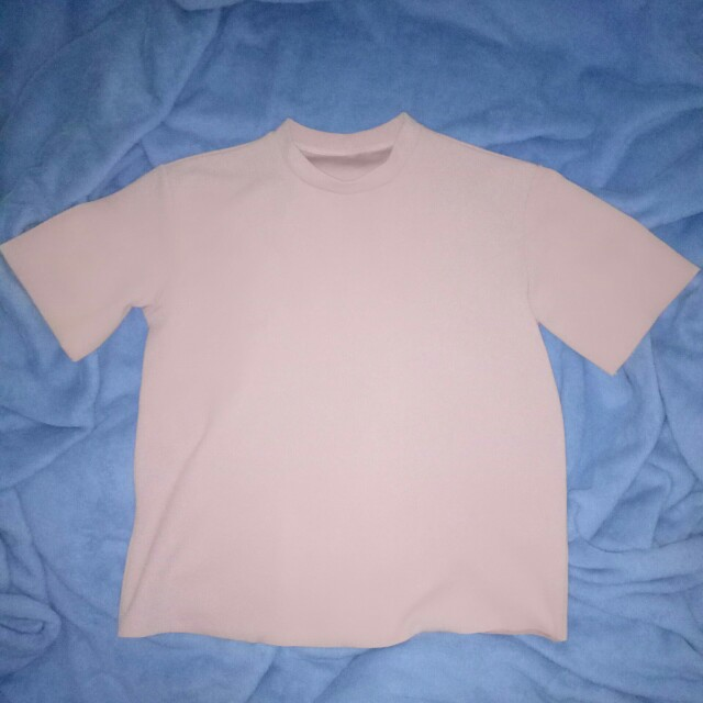 粉色短袖素t