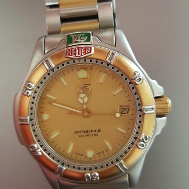 Tag Heuer quartz movement watch