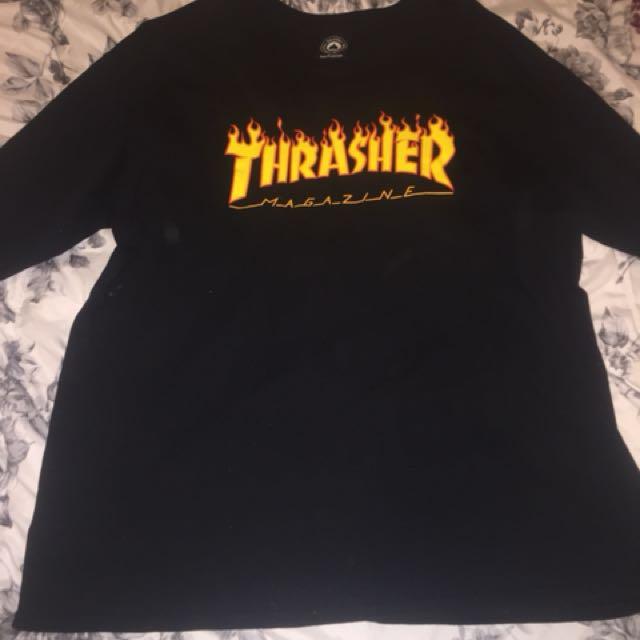 Thrasher long sleeve black tshirt