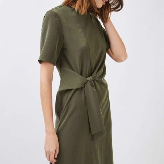 TOPSHOP Midi Dress (with front knot)