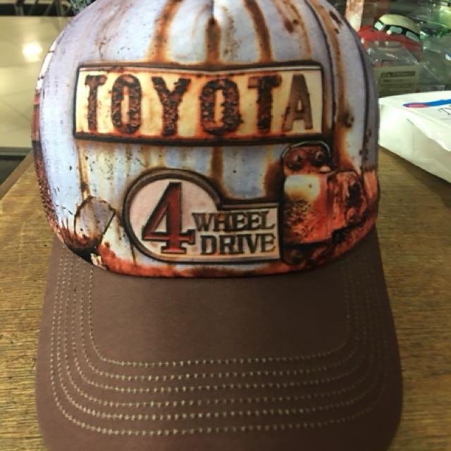Toyota Landcruiser 4 Wheel Drive Visor Truckers Cap 4WD Rust design  pattern a2706ff314f