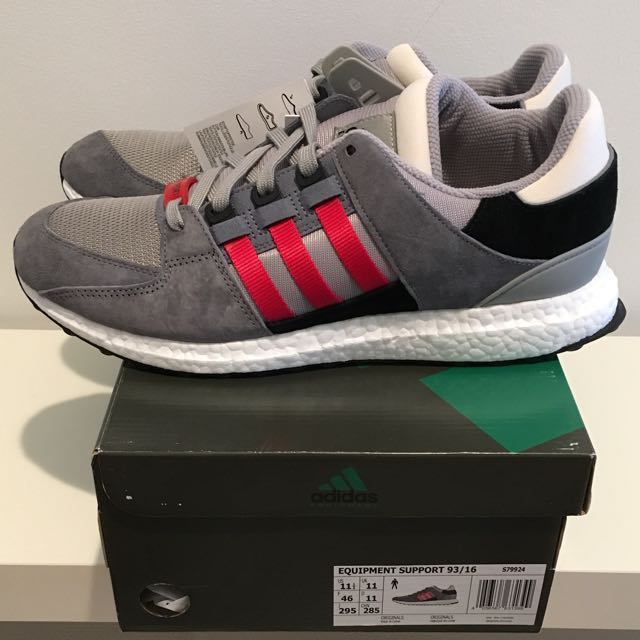 new styles 0fe82 2444c UK11 Adidas Originals EQT Support 93/16 Boost