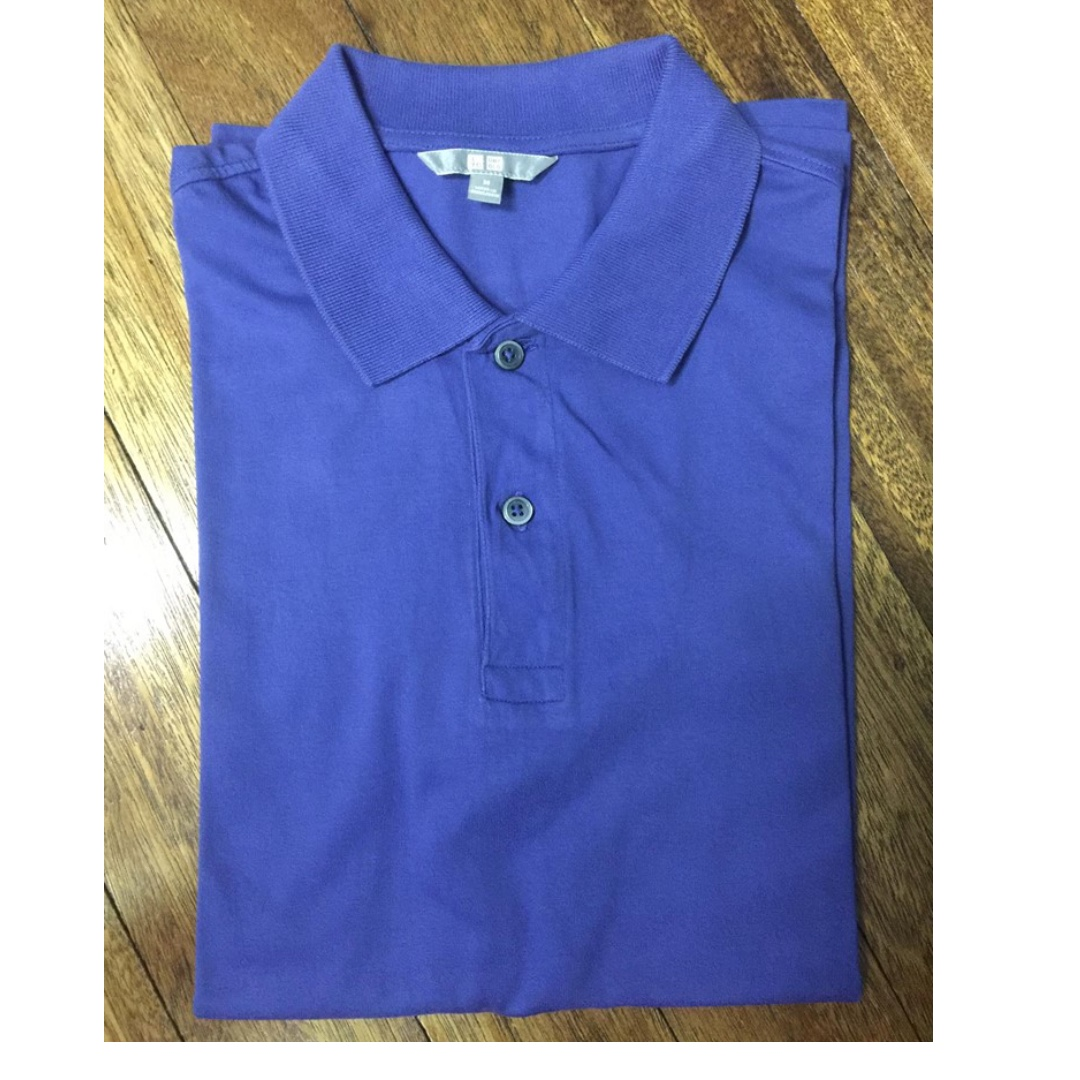 [3 for P1000] UNIQLO Blue polo shirt