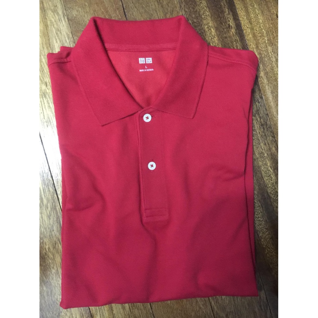 [3 for P1000] UNIQLO red polo shirt