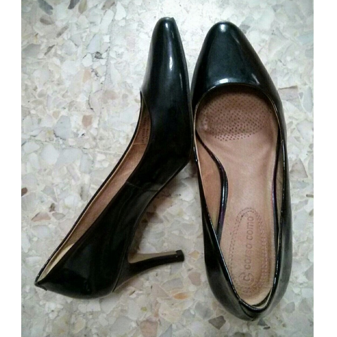 b9781ef498 GSS Used in Good condition Corso Como black patent pointed leather ...