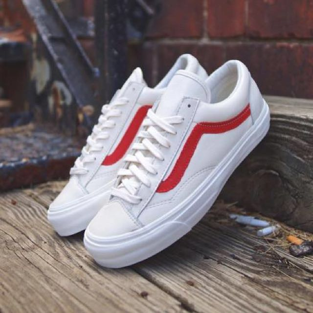 61cba59543 Vans Marshmallow Style 36 Old Skool Racing Red