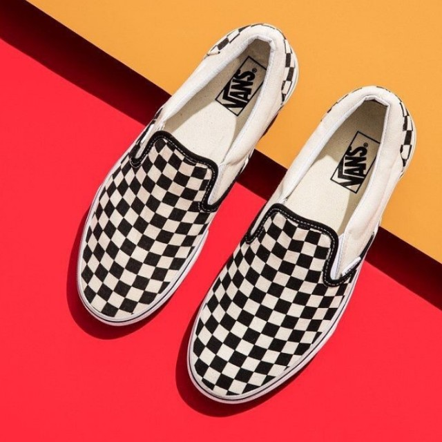 VANS Slip-On Checkerboard Size 5 b253e12d7