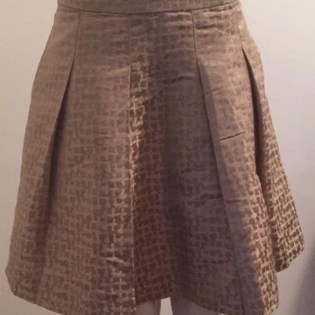 Veronica Maine Sz 8 Gold Skirt as New