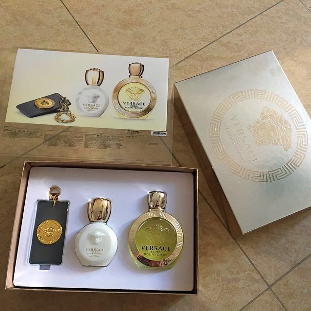 Versace 100ml Gift Set Eros Pour Femme Health Beauty Hand