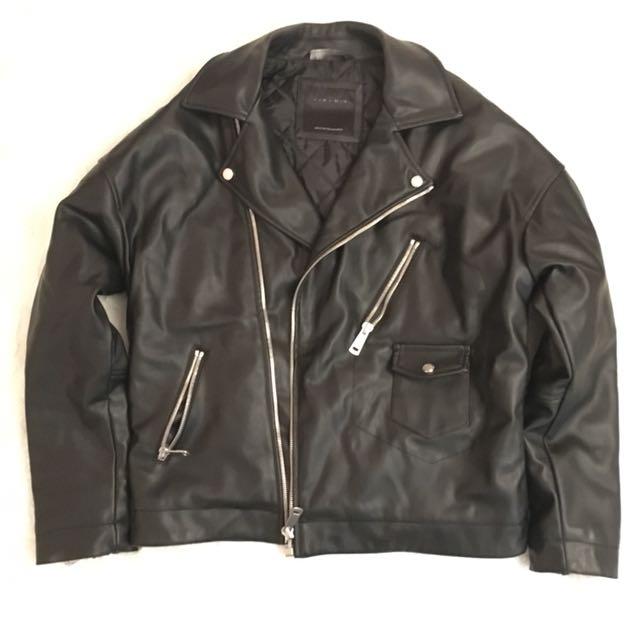 Vintage Oversized Biker Jacket