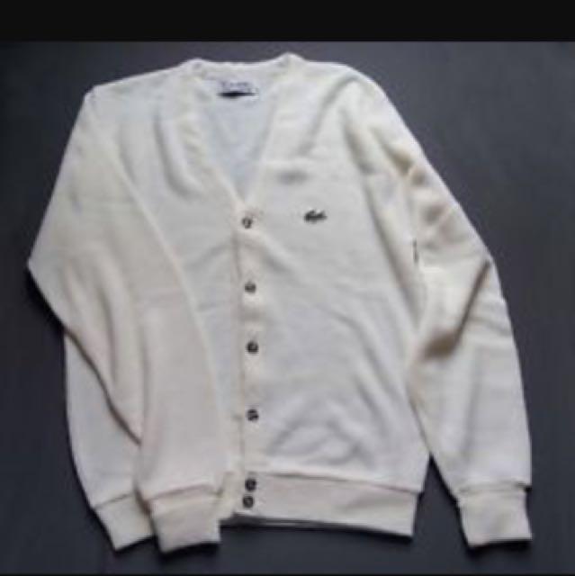 Vintage white Lacoste cardigan