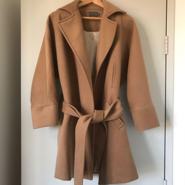 Watson x Watson tan oversized coat
