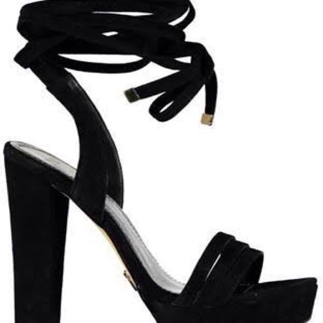 Windsor Smith Black Tie Around Heel