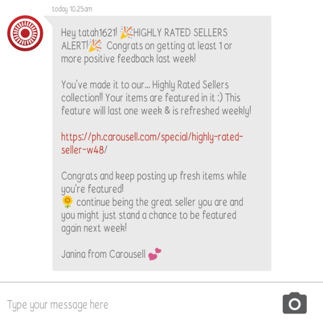 Yey!!!! Ty carousell