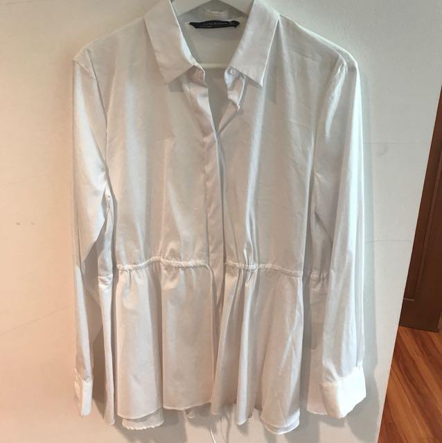 Zara white shirt size L