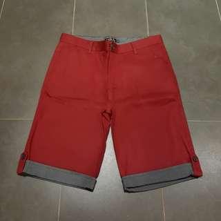 Orange red shorts