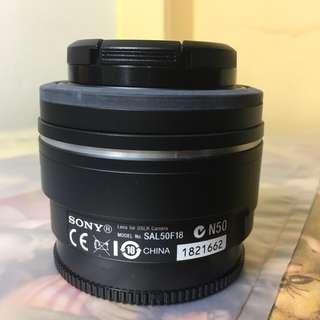 WTS Sony A-mount 50mm F1.8 SAL50F18