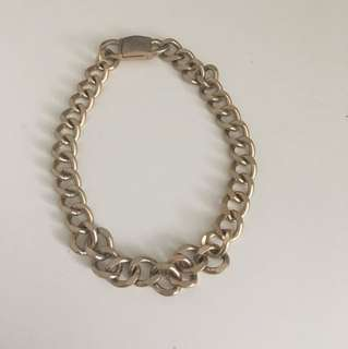 Gold chain link choker