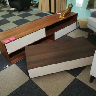 Solid wood modern Tv console