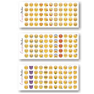WHOLE PACK $1.50 NETT latest whatsapp emoji stickers! 132 emoji in total!
