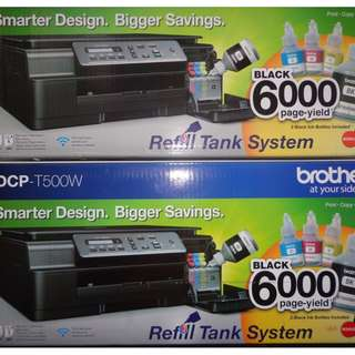 BROTHER DCP T500W INKJET WIRELESS PRINTER SCAN CONTINUOUS CISS TANK