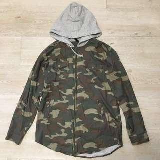 Camo/Army Green Print Jacket