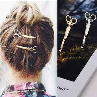 Korea Style Metal Scissors Hairpin