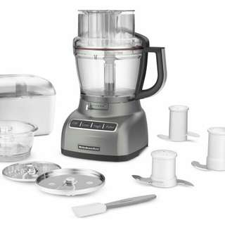 KitchenAid KFP1333CU 13-Cup Food Processor with ExactSlice System - Contour Silver