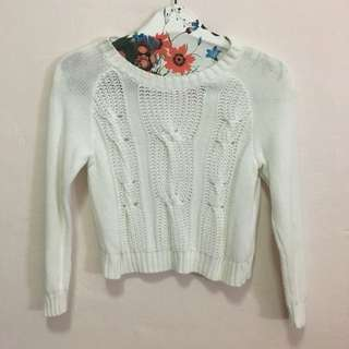 H&M white knitted top