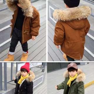 兒童韓版帥氣加厚防風外套