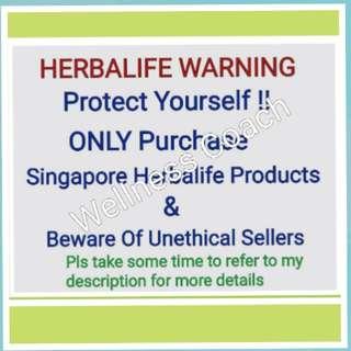 Herbalife Warning